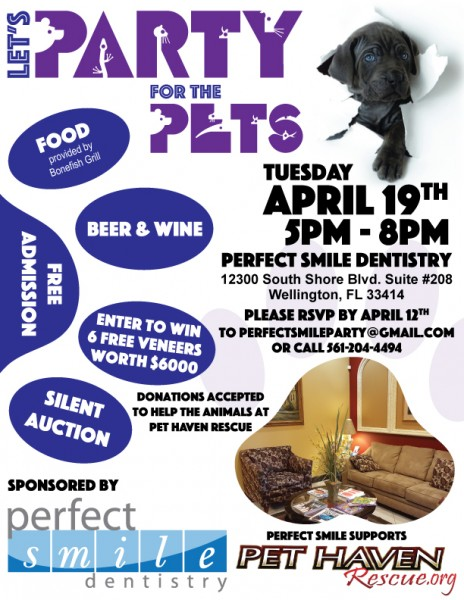 Perfect Smile Dentistry Pet Haven Event Flyer